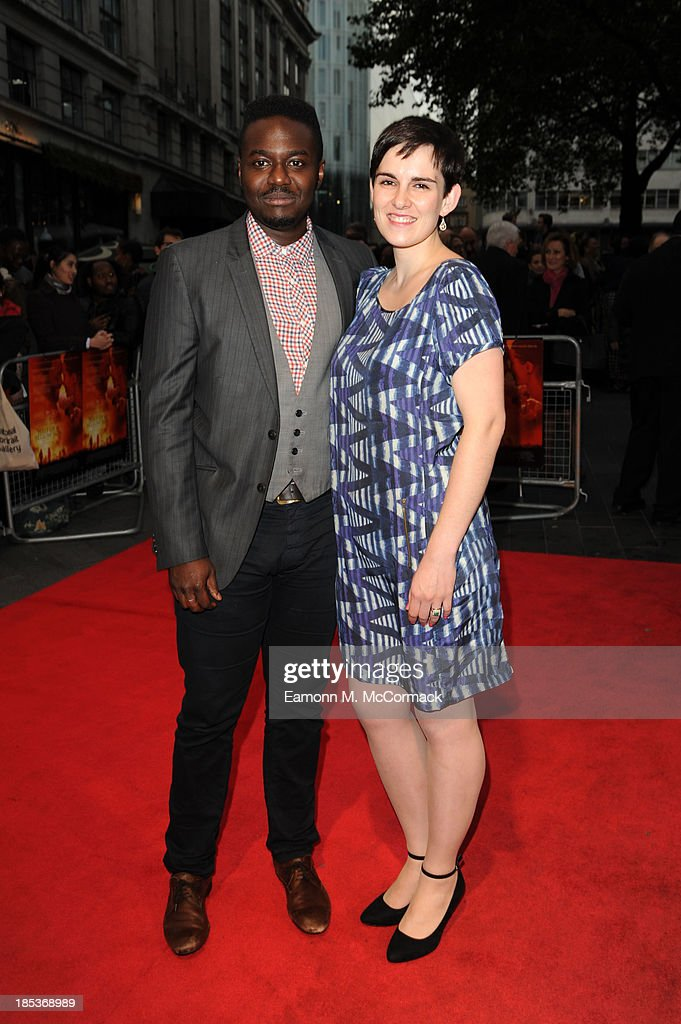 Babou Ceesay (L) attends a screening of 'Half of a Yellow Sun' during the 57th BFI London Film Festival at Odeon West End on October 19, 2013 in London, England.