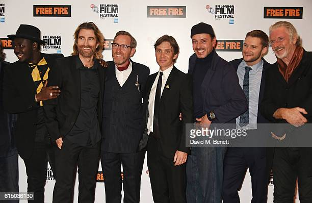 Babou Ceesay Sharlto Copley Michael Smiley Cillian Murphy Enzo Cilenti Jack Reynor and Patrick Bergin attend the 'Free Fire' Closing Night Gala...