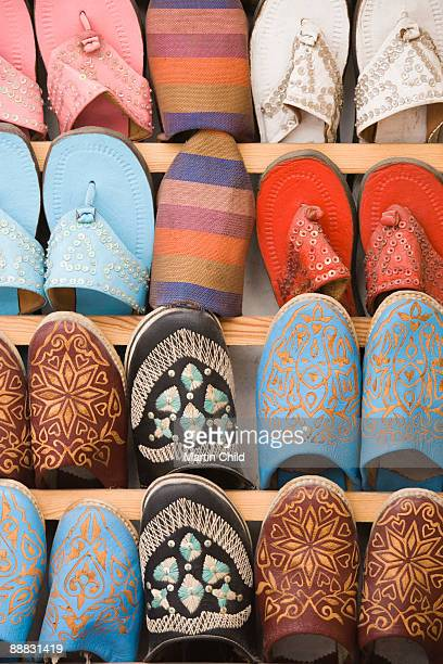 Babouches or slippers, Souk Market, Essaouira, Morocco