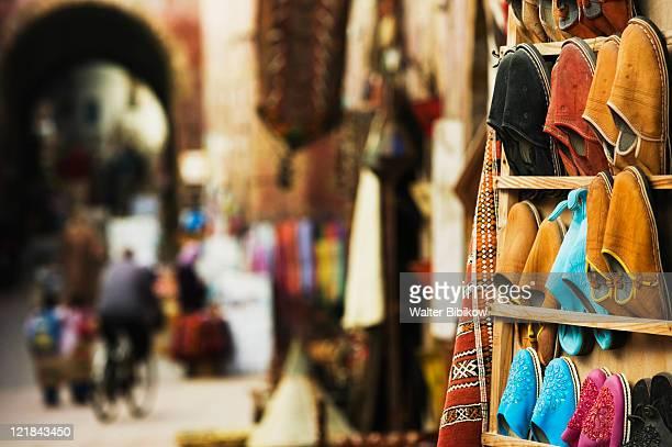 Babouches, Rue de la Skala market, Essaouira, Atlantic Coast, Morocco