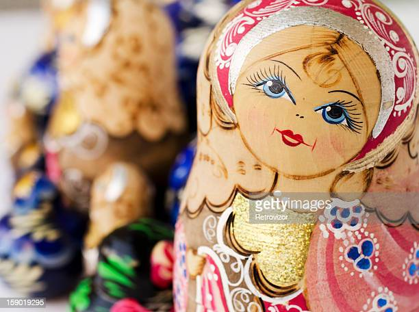 Foulard de babouchka nidification poupées