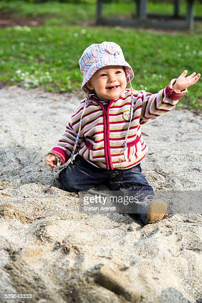 Baby, 12-14 Months, playing in the sand