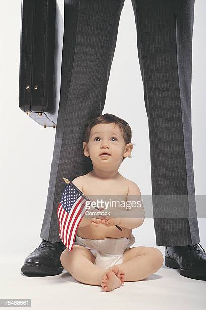 Baby and businessman