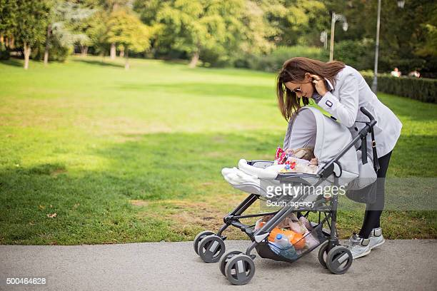 Baby and mom in the park