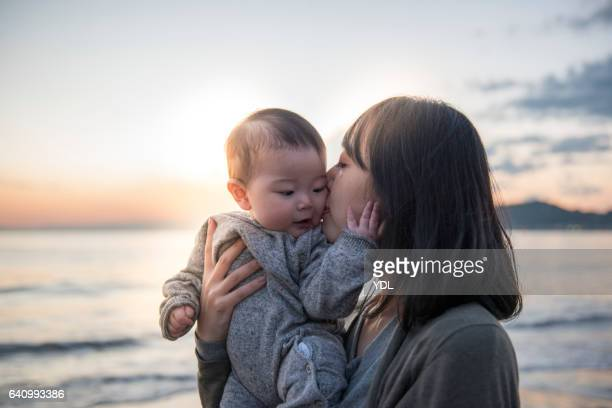 A Baby and Mother.