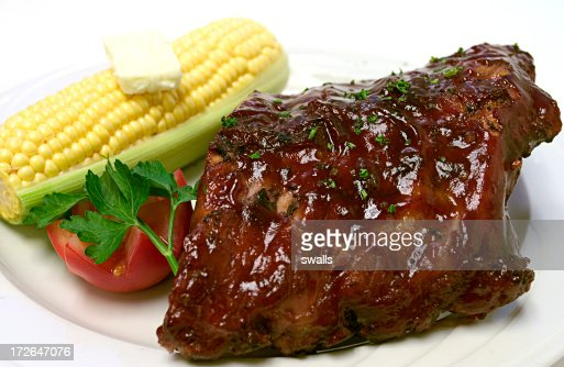 Baby Back Ribs : Stock Photo