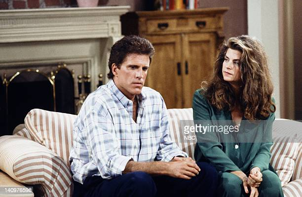 CHEERS 'Baby Balk' Episode 1 Air Date Pictured Ted Danson as Sam Malone Kirstie Alley as Rebecca Howe Photo by Kim GottliebWalker/NBCU Photo Bank