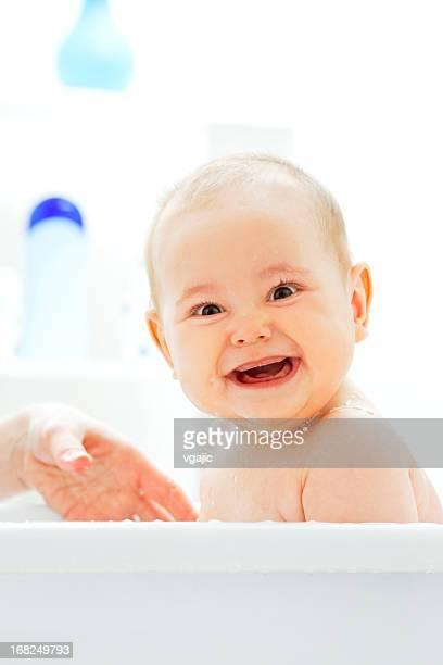 Baby Bath Girl Portrait