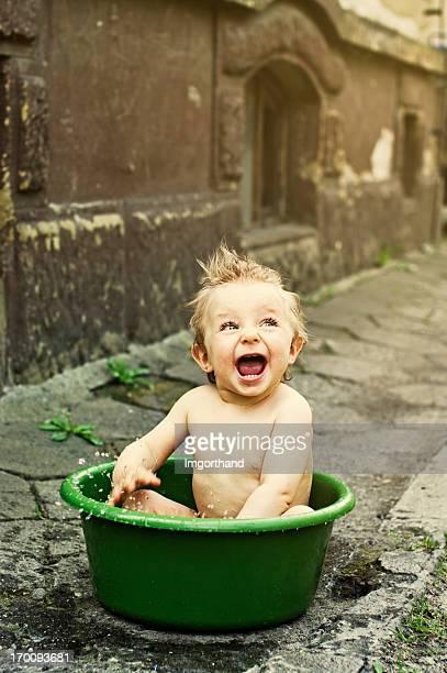 Baignoire pour bébé délavé bain à remous