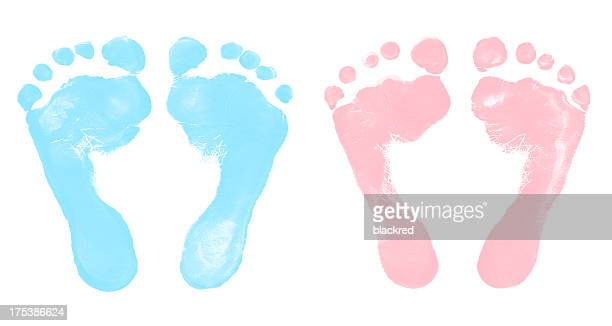 Baby Boy and Girl Footprints