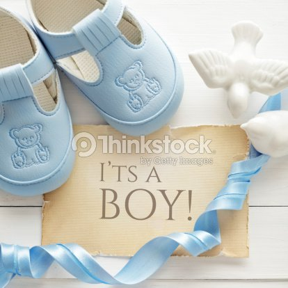 Baby boy birthday greeting card stock photo thinkstock baby boy birthday greeting card stock photo m4hsunfo