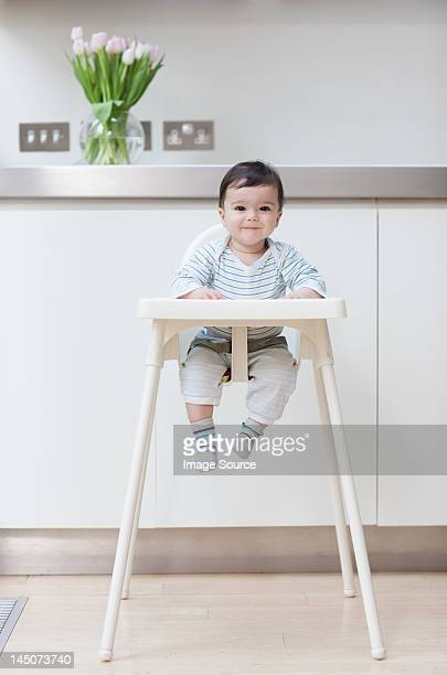 Baby boy in his high chair