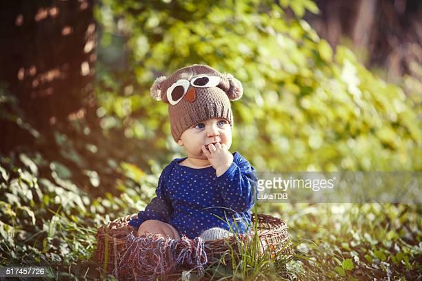 baby boy in park