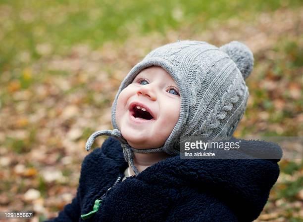 Baby boy laughing