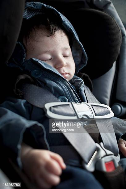 Baby boy travelling in Car Seat