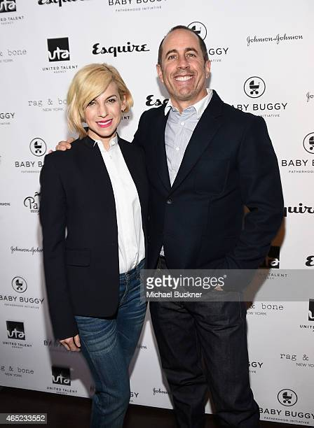 Baby Buggy Founder Jessica Seinfeld and host Jerry Seinfeld attend the Inaugural Los Angeles Fatherhood Lunch to Benefit Baby Buggy hosted by Jerry...