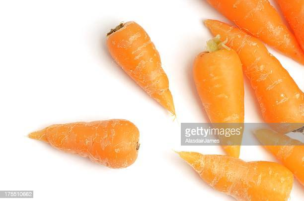 Baby carrots scattered