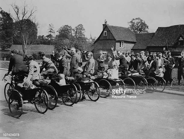 Baby Carrying Tricycles Race At Chalfont St Giles In England On May 1932