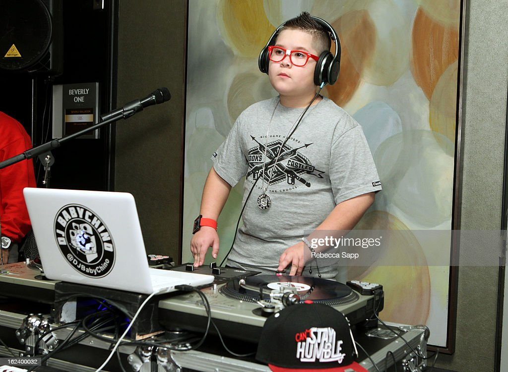 DJ Baby Chino spins at GBK's Oscars Gift Lounge 2013 - Day 1 at Sofitel Hotel on February 22, 2013 in Los Angeles, California.