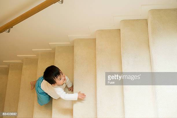 Baby Climbing Up Stairs