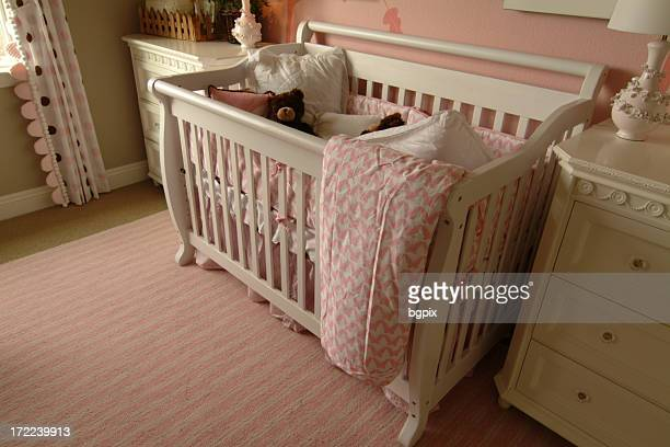 Baby Crib and Teddy Bear