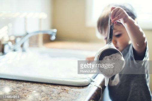 Baby Dish Washing