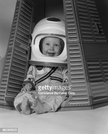 Baby Dressed As Astronaut Stock Photo | Getty Images