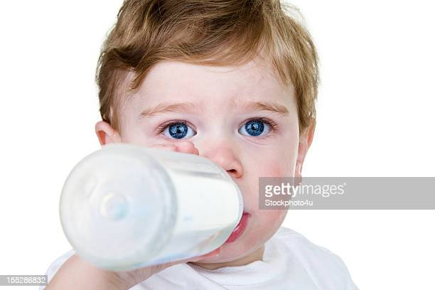 Baby drinking bottle