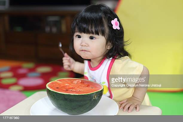 Baby eating watermelon (^-^)