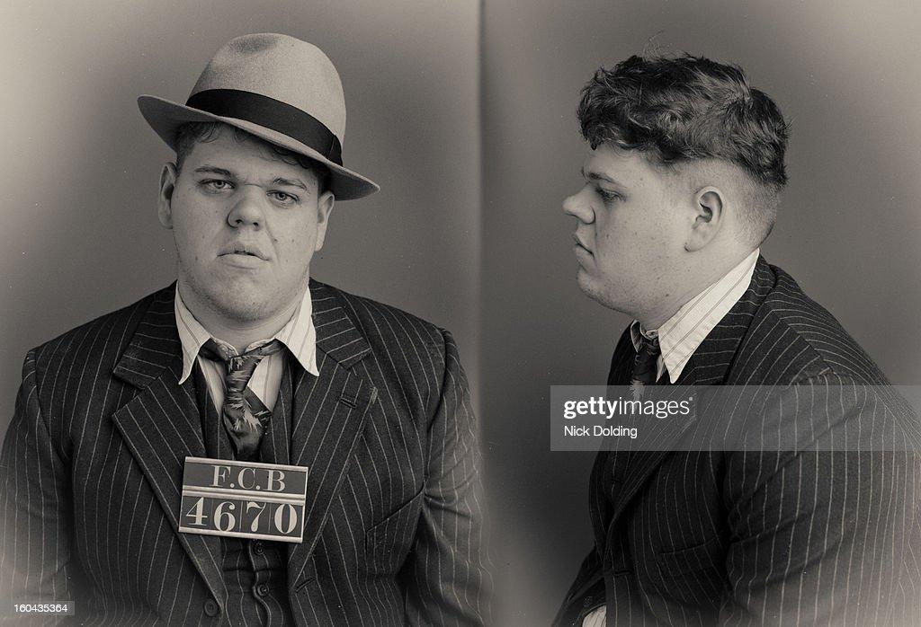 Baby Face Wanted Mugshot : Stock Photo