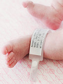 Baby Foot with Hospital Tag