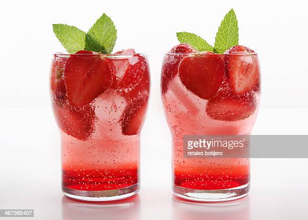 Baby Gin & Tonic with strawberries