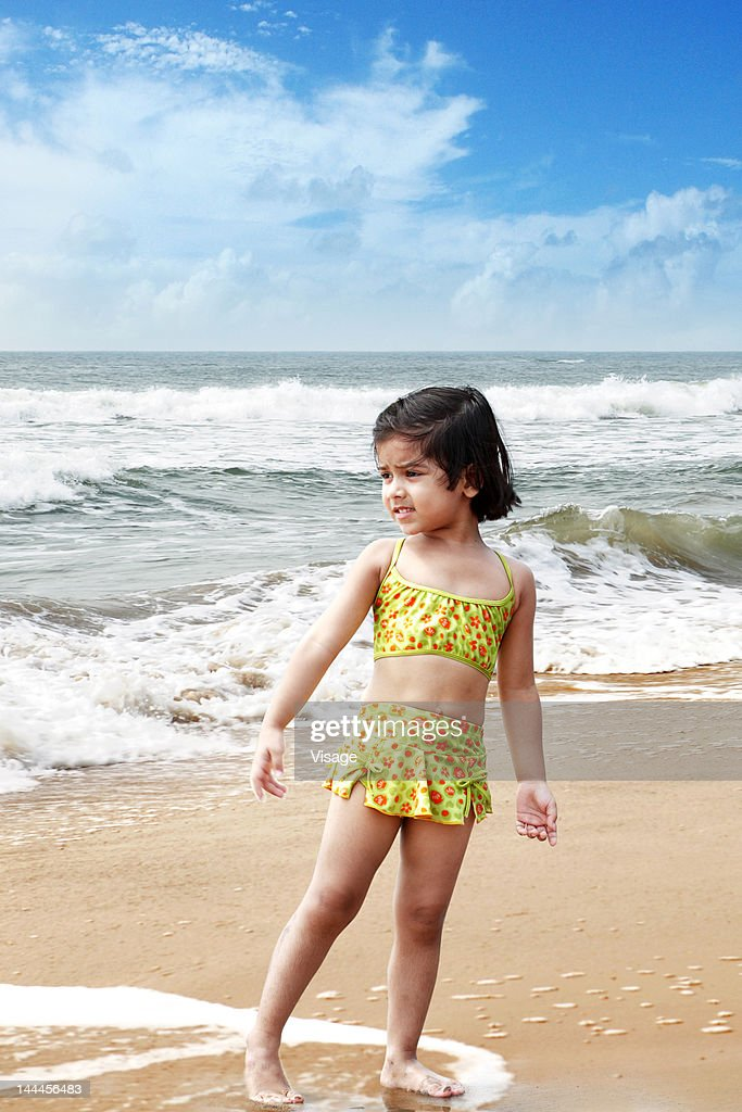 Baby girl at a beachside