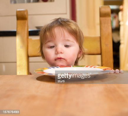 Baby Girl at the Kitchen Table