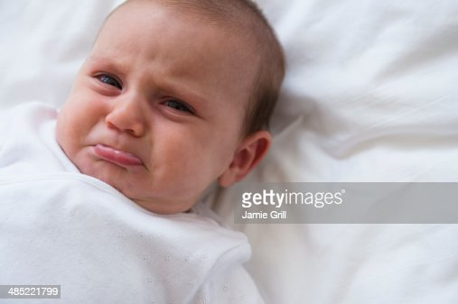 Baby girl (2-5 months) crying