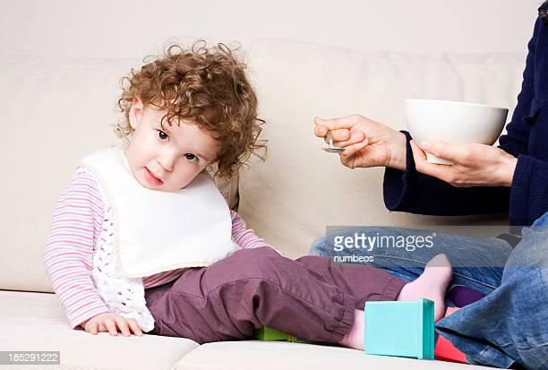Baby Mädchen verweigern Ihre Speisen