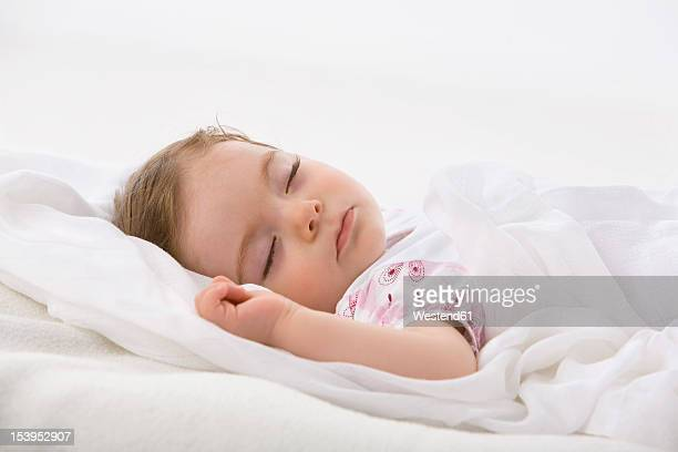 Baby girl sleeping, close up