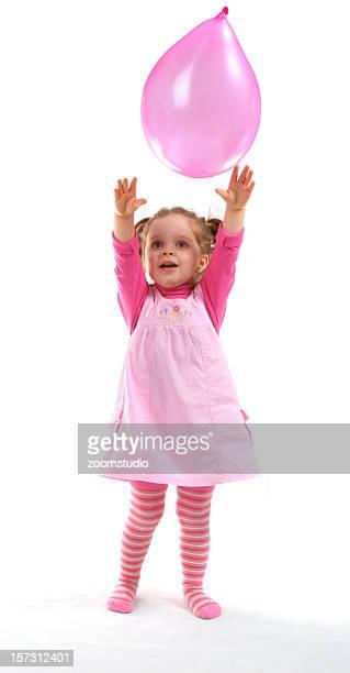 Bébé fille avec Ballon de baudruche