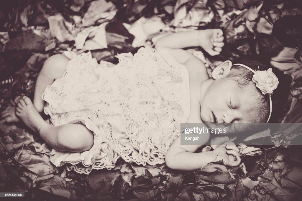 Baby Girl-Sepia : Stock Photo