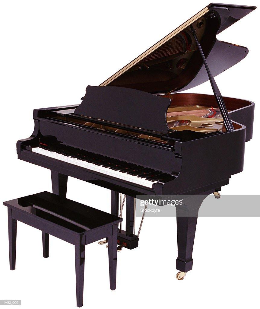 Baby grand piano : Stock Photo