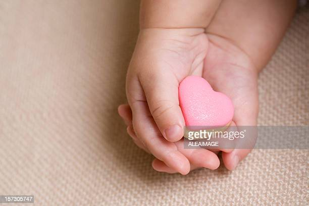 Baby hand pink heart 4