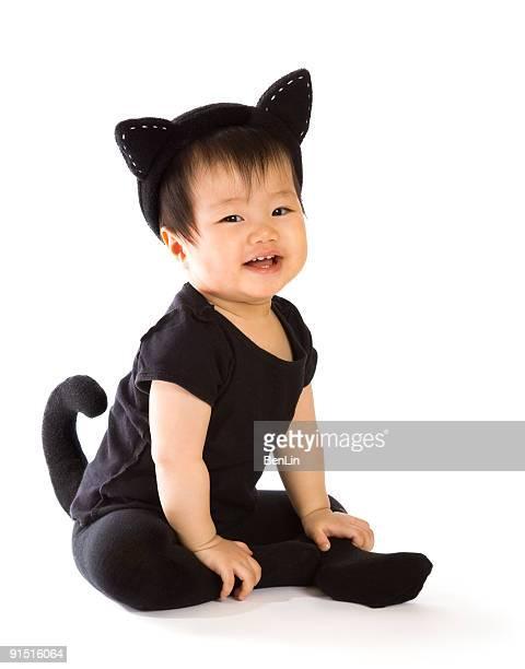Baby in Cat Costume - Halloween