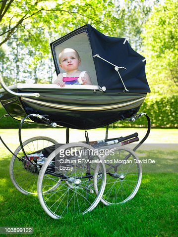 Baby In Pram Stock Photo | Getty Images