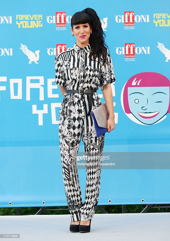 Baby K attends 2013 Giffoni Film Festival photocall on July 28, 2013 in Giffoni Valle Piana, Italy.