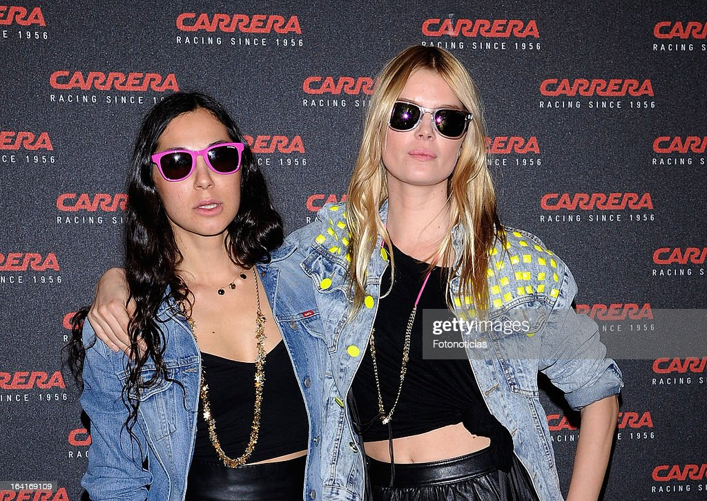 Baby Kat (L) and Cristina Tosio attend 'Carrera Ignition Night' at The Matadero on March 20, 2013 in Madrid, Spain.
