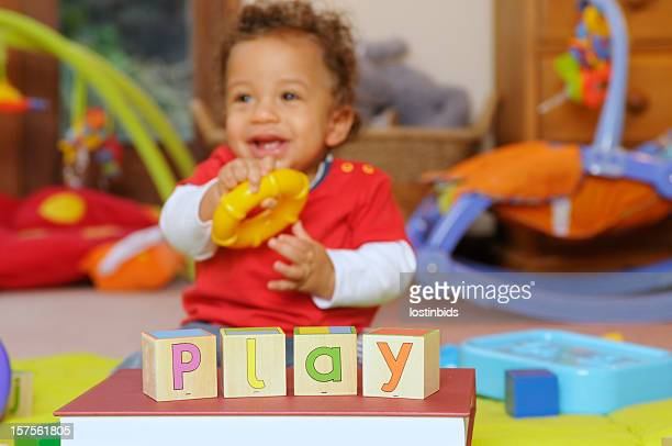 Baby learning though play