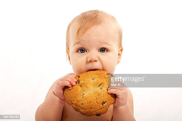 Baby Meets Big Cookie