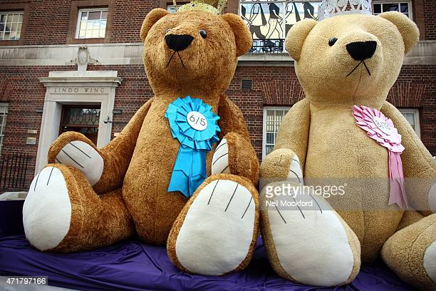 Baby name publicity stunt outside The Lindo Wing at St Mary's Hospital on May 1 2015 in London England