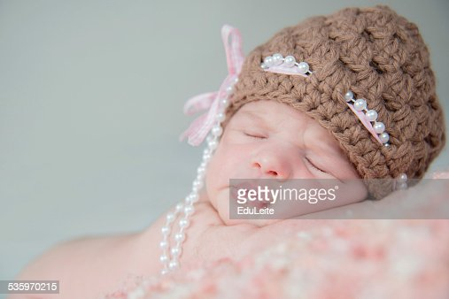 Baby Newborn Girl : Stock Photo