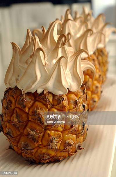 Baby Pineapple Baked Alaska at Oya restaurant at 777 9th Street NW
